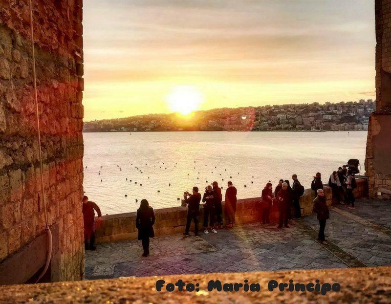 Napoli, Megaride veduta al tramonto foto Maria Principe Donna Energia
